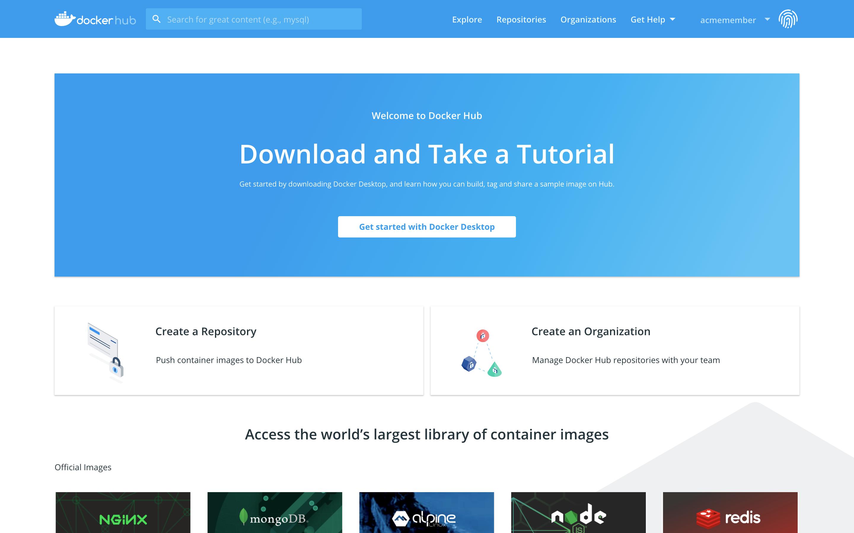 Docker Hub Quickstart   A handbook for beginners in research